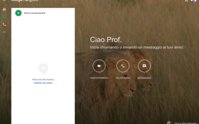 Lezione in streaming con Google Hangouts e Argo DidUp