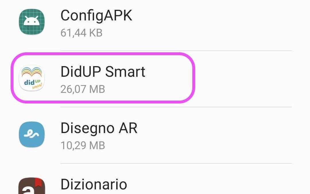 Anomalie in fase di accesso per didUP Smart per Android – come cancellare Dati e Cache dell'App